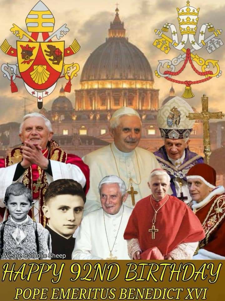 Happy Birthday Pope Emeritus Benedict XVI!